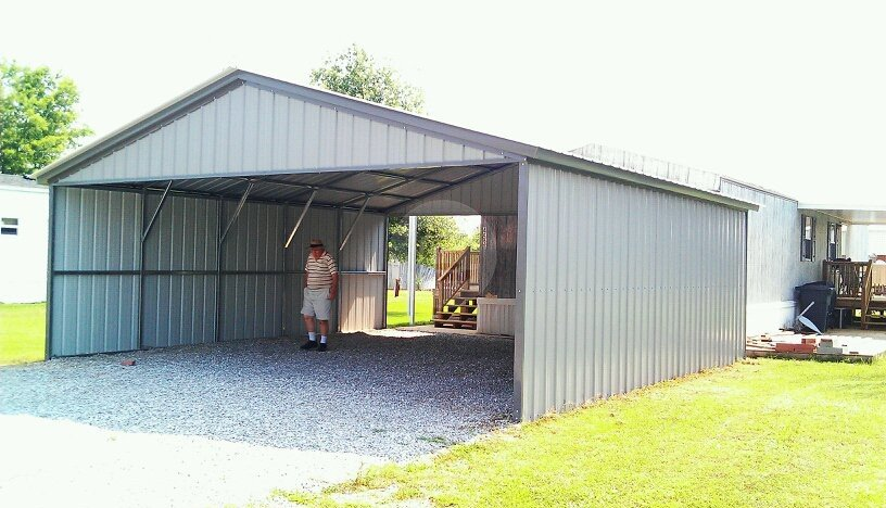 28x31 carport metal barn central for 26 x 36 garage
