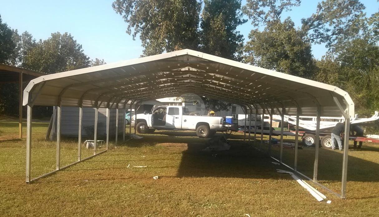 Metal carports arizona rv storage buildings metal rv for Carport shop