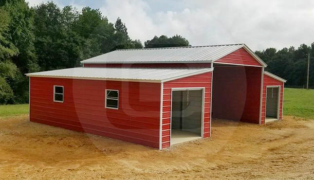 48x36 Step Down Roof Barn