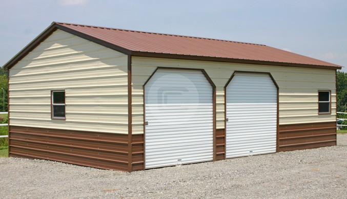 24×31 Side Entry Metal Garage