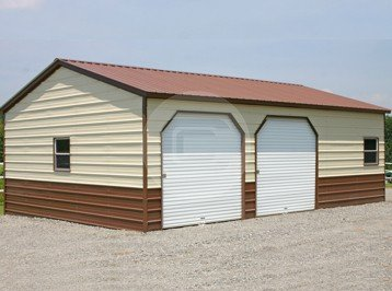 Metal barns and steel buildings for sale buy carports online for Side entry garage