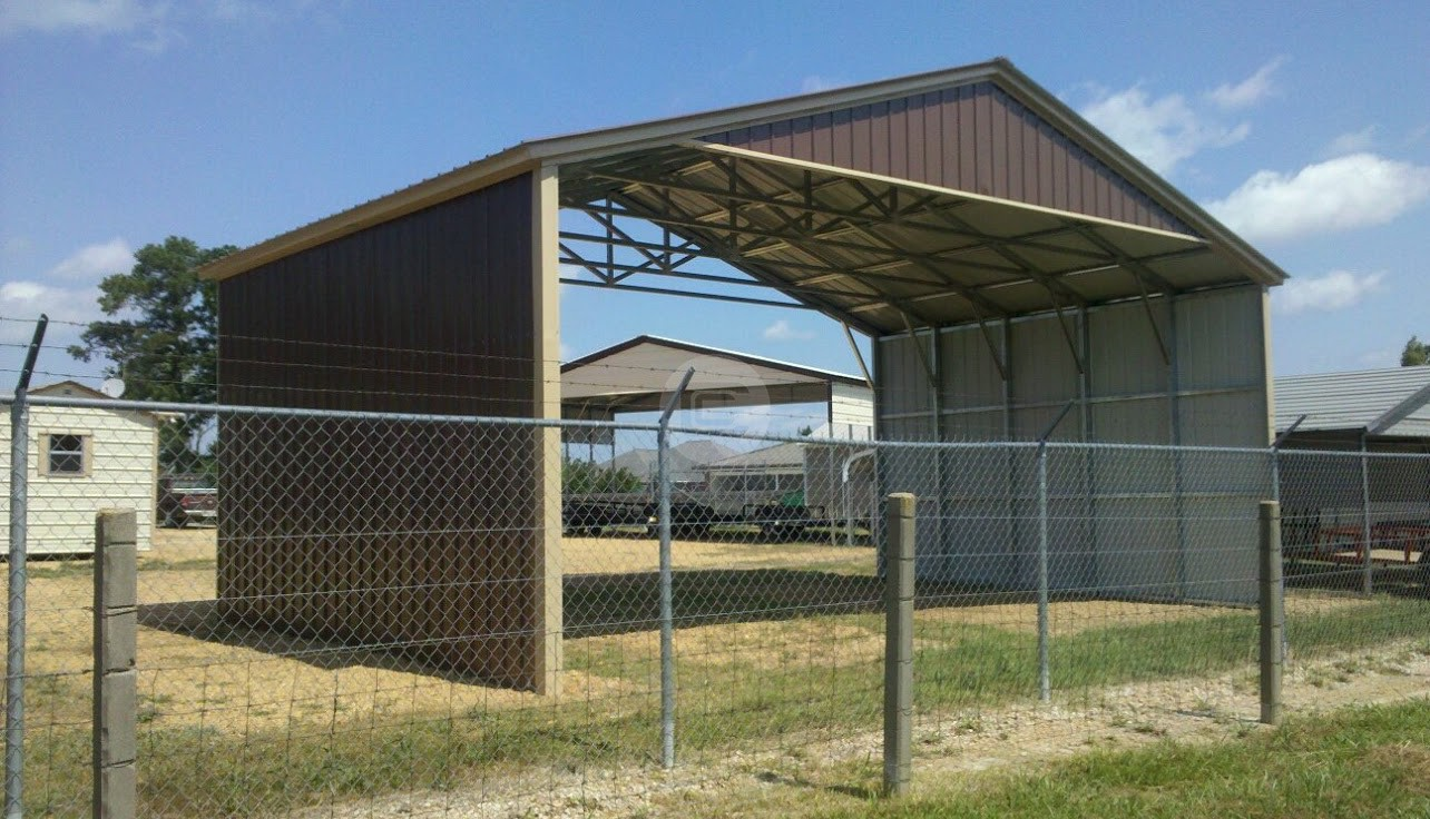 Triple Wide Agricultural Carport