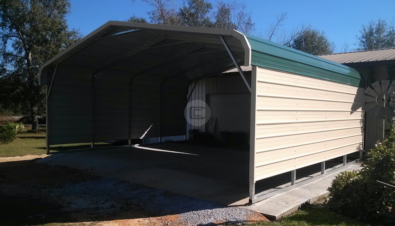 20 X 21 X 7 Carport Metalbarnscentral