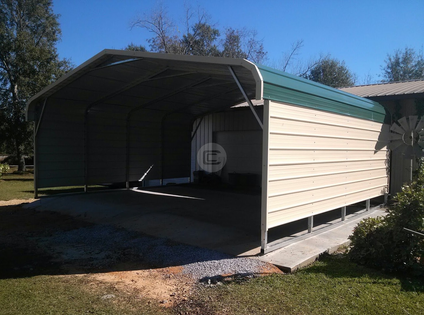 20x21 Boat Carport Metal Barn Central