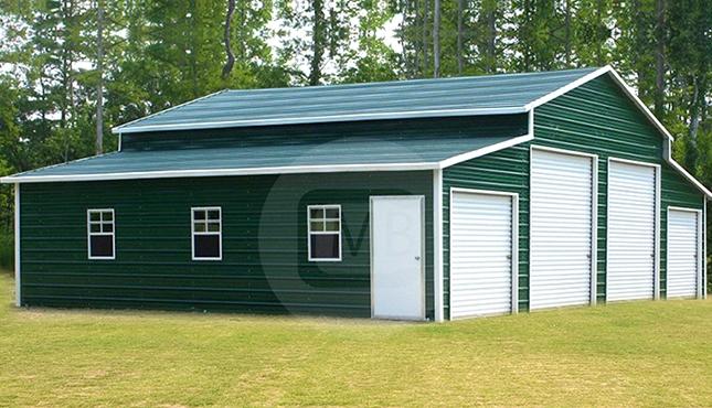 48x31x12' Step-Down Roof Barn-1