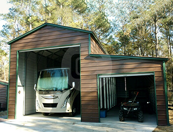 18x41 rv garage with lean to rv garage price online for Rv shed ideas