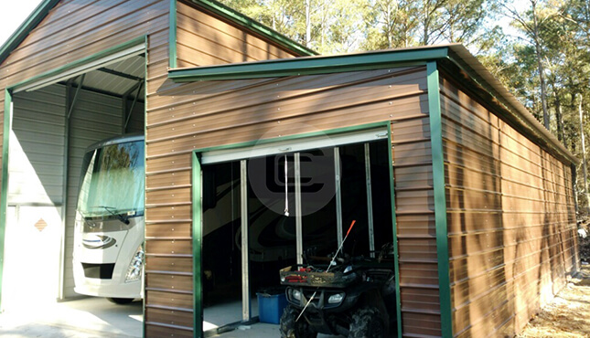 18×41 RV Garage with lean-to