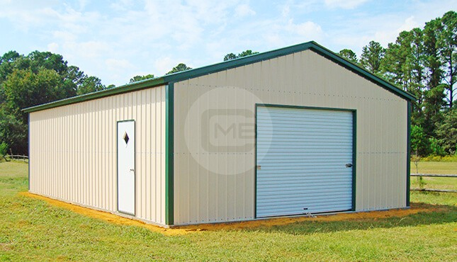 24×36 Detached Metal Garage