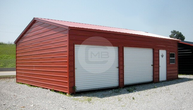 24×36 Side Load Metal Garage