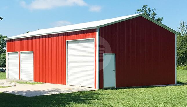 24×46 Enclosed Garage