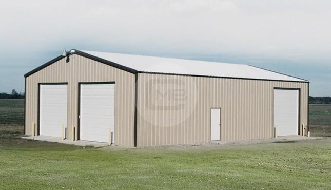 26x48x12 Vertical Roof  Metal Garage