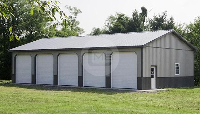 36×56 Vertical Roof Side Entry Garage