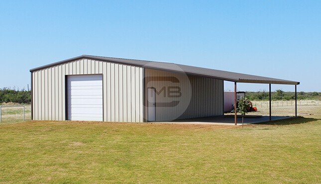 44×41 Lean-to Garage