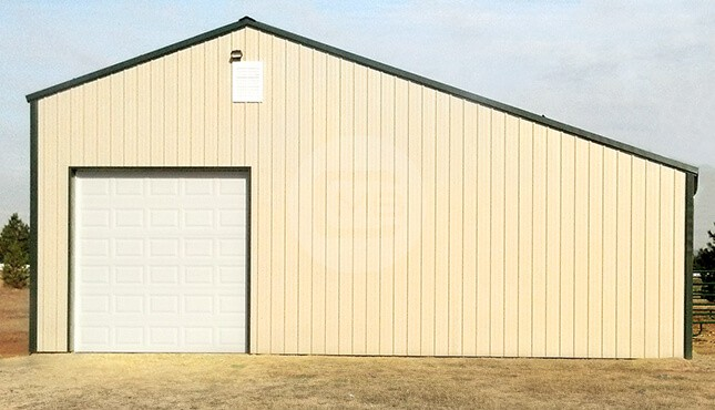 36×31 Garage with Lean-To