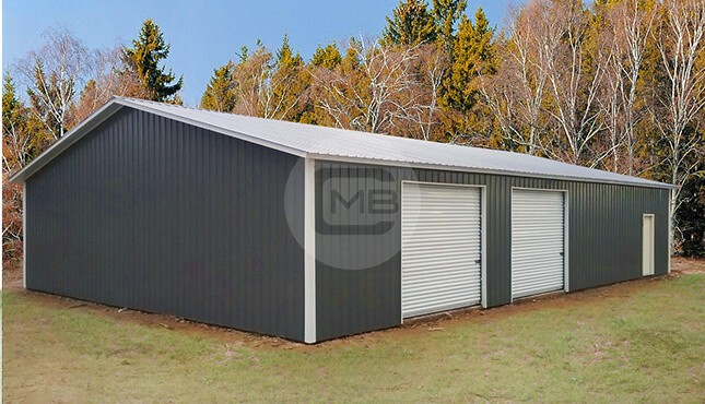 40x60 Clear Span Commercial Garage