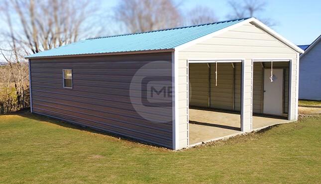 24×50 Prefab Metal Garage