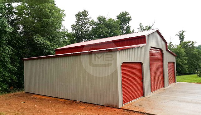 42x36 Step Down Metal Barn