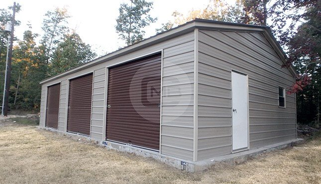 24×40 Three Car Garage