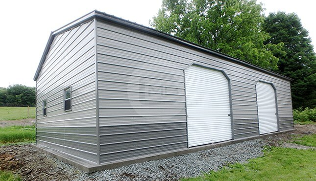 30x40 Two Tone Metal Garage
