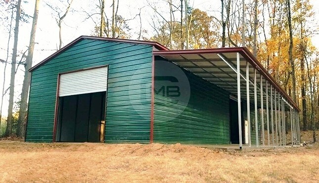 36×70 Prefab Workshop with Lean-to