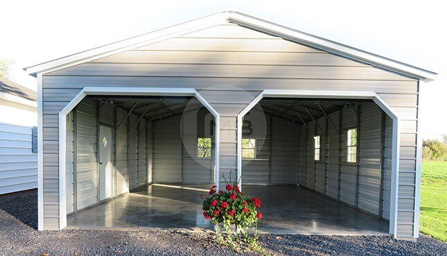 22x30-two-car garage-front-view