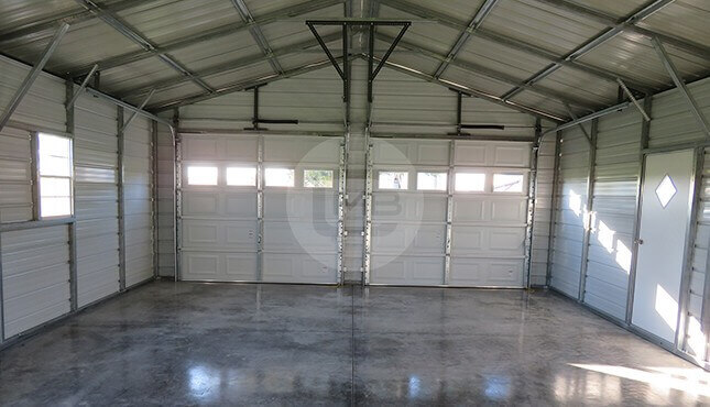 22x30-two-car garage-interior-view-with-closed-doors