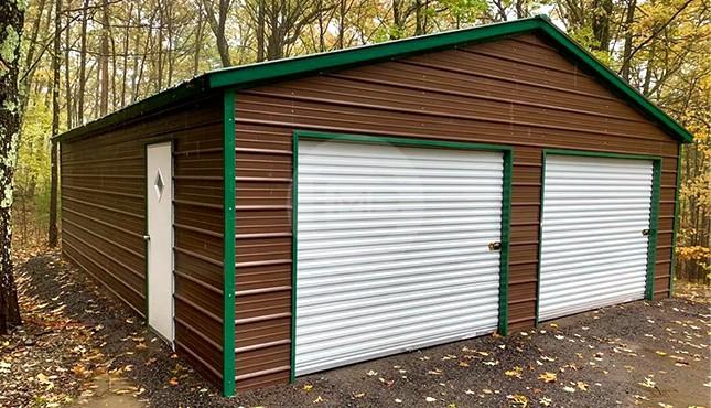 24×30 Metal Garage
