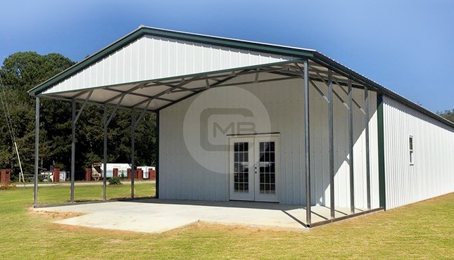 24x60 Workshop Building with Porch