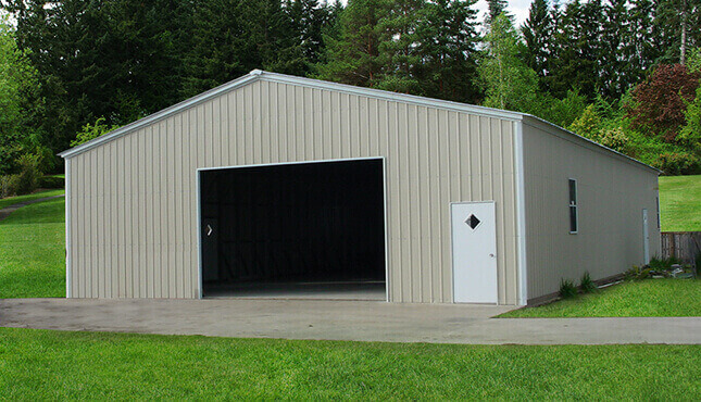 40x50 Metal Garage Building