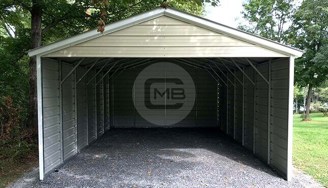18×30 Three-Sided Carport