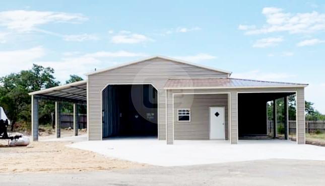 54×40 Lean-to Garage