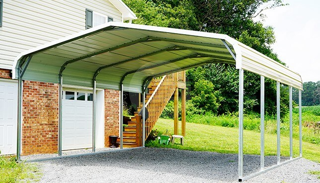 18×21 Regular Steel Carport
