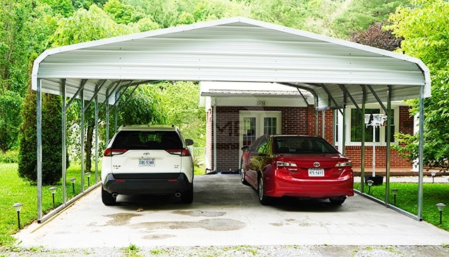 22x21 Regular Roof Carport