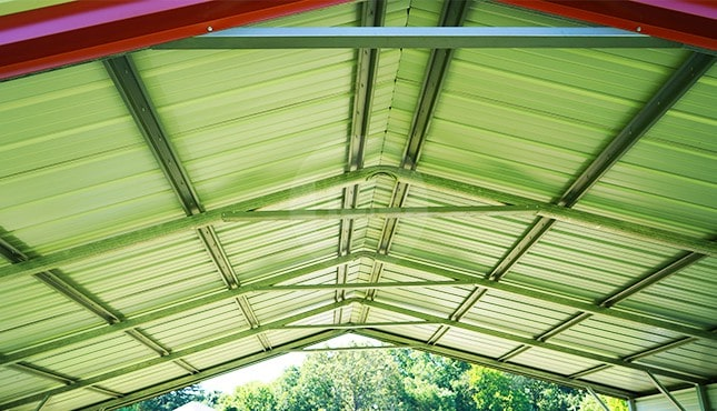24×21 Vertical Roof Steel Carport