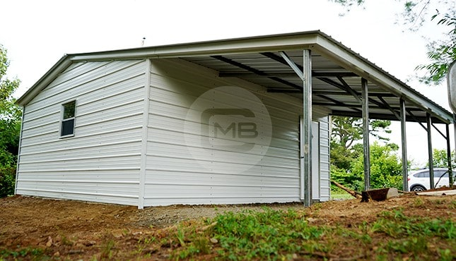 30×21 Garage with Lean-to