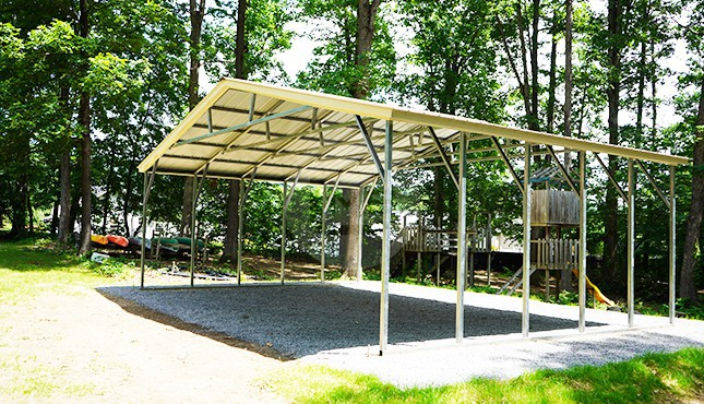 30×21 Vertical Roof Carport