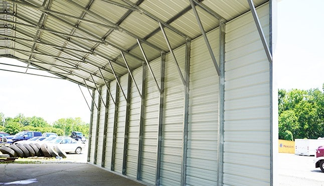 30×41 Vertical Roof Steel Carport
