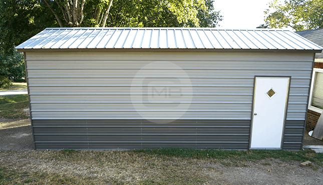 12×26 Vertical Roof Garage