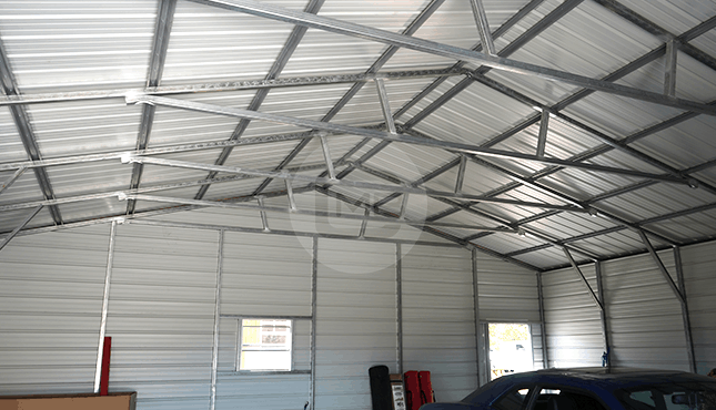 30×31 Vertical Roof Garage