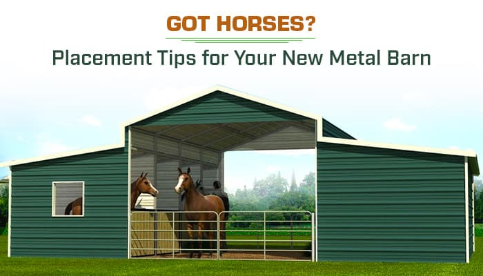 Got Horses? Placement Tips for Your New Metal Barn