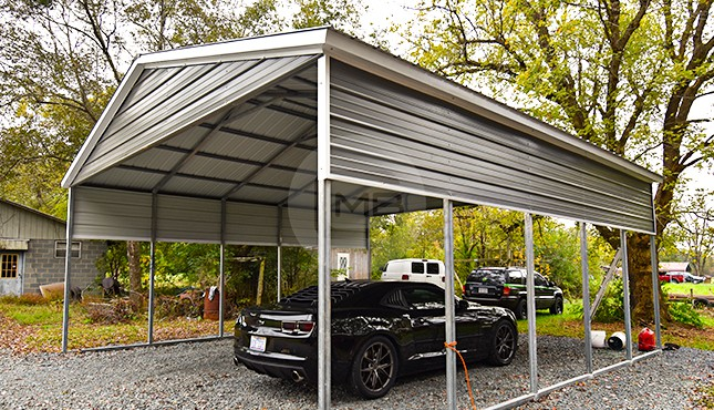 24x26 Vertical Roof Metal Carport