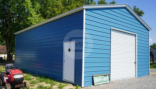 24x35 Vertical Roof Metal Garage