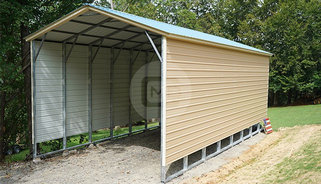 18x41 Vertical Roof RV Carport