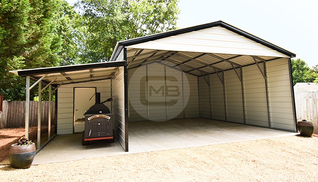 22x25 Vertical Roof Carport