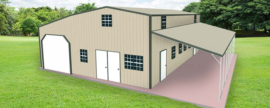 Metal Buildings with Living Quarters2
