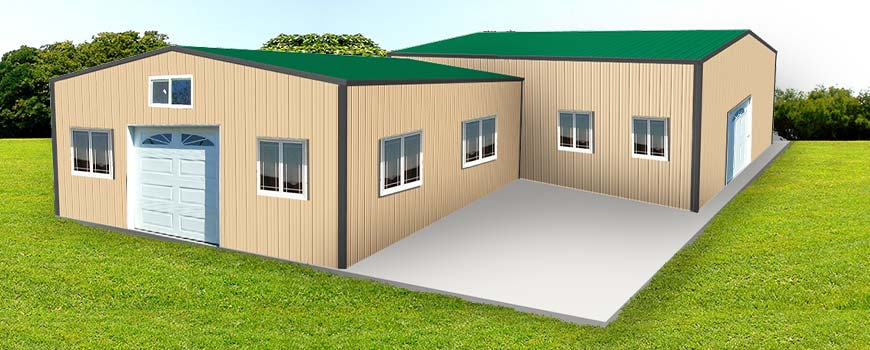 Metal Buildings with Living Quarters3